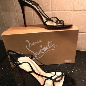 Christian Louboutin patent leather strappy sandal